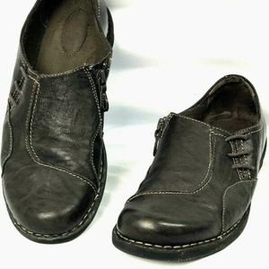 Clarks 10 Collection Soft Cushion Side Zip Brown